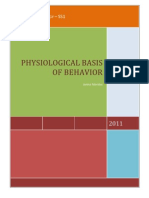 Physiological Basis of Behavior Scrib