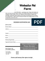Website Ad Form
