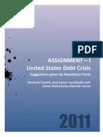 Usa Debt Crisis Republicans View