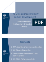The UK's Approach to Low Carbon Development