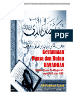 Buku Keutamaan Shaum Dan Bulan Ramadhan
