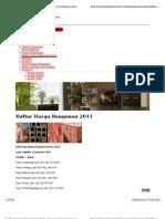 Daftar Harga Bahan Bangunan Jan 2011