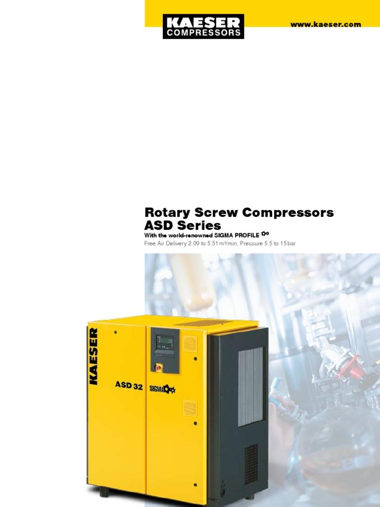 kaeser asd series gas compressor transmission mechanics rh scribd com Kaeser Sigma Control Manual Kaeser Compressor Parts Breakdown