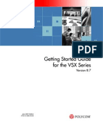 Vsx Series Getting Started Guide