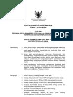 Permen PU No 9 Thn 2008 Pedoman SMK3 PU