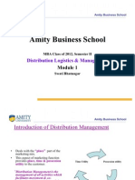 Distribution Managemen & Logistics T-Module I