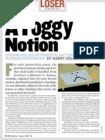 A Foggy Notion [Solar Photo Voltaic Power System]