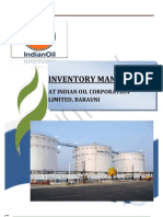 BIPUL KUMAR inventory managment in iocl barauni refinery