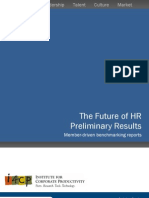 The Future of HR - Preliminary Results