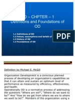 CHAPTER - 1 - Definitions and Foundations of OD