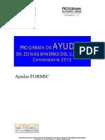 PROGRAMA D'AJUDES EN ZONES MINERES DEL CARBÓ DE LA FUNDACIÓ PER AL DESENVOLUPAMENT DE LA FORMACIÓ A LES ZONES MINERES DEL CARBÓ
