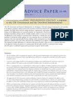AD11_09 Influenza Pandemic Preparedness Strategy: