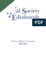 Trustees' Report & Accounts 2002-2003