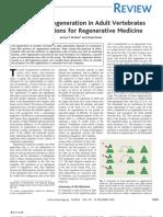 Brocks and Kumar, 2005 Appendage Regeneration in Adult Vertebrates, Science_REVIEW.Regeneration