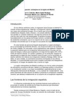 La Inmigracion Extranjera de La Region de Madrid (2010)