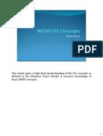 WDM Input Output Concepts