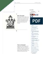 32 Forms of God Ganesha