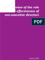 Review of the Role and Affectiveness of Non-executive Directors