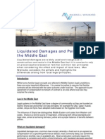 International Newsletter-Liquidated Damages in Middle East