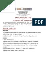 Sun Extender Battery Sizing Tips 1