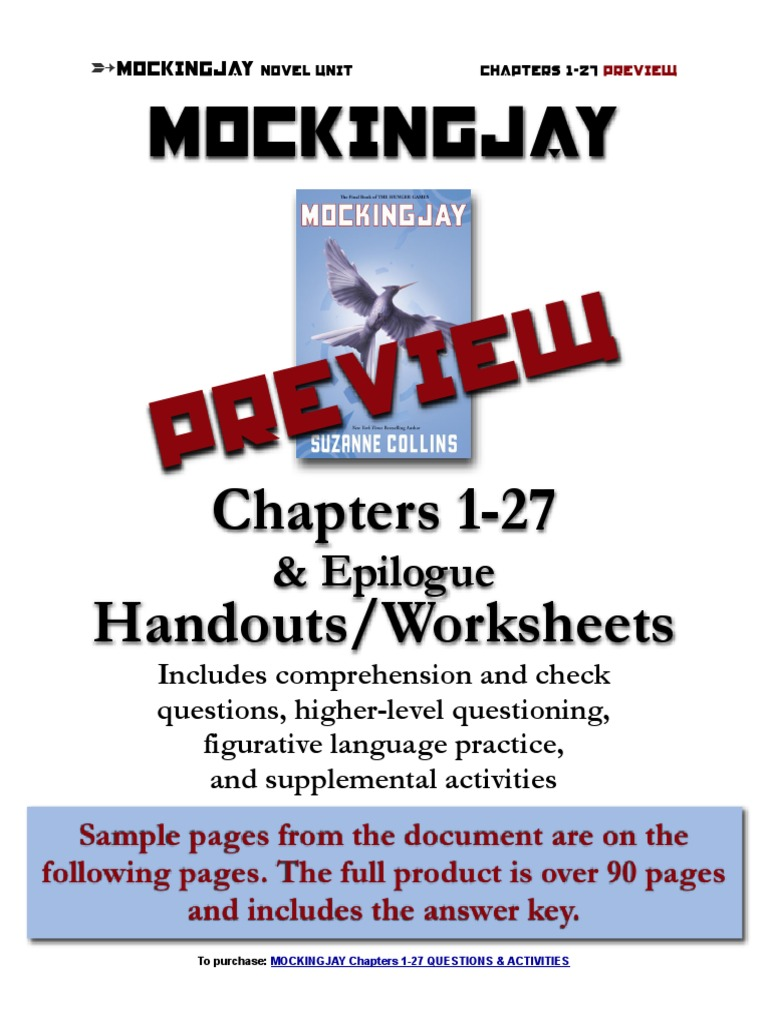 Mockingjay Novel Discussion Questions Chapters 1-27 Preview | Homework |  Violence