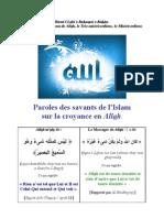 Paroles Savants Tawhid