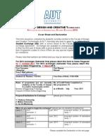Application for International Student Exchange 2012