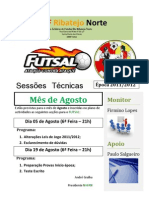 Sessões Técnicas - Futsal - Agosto