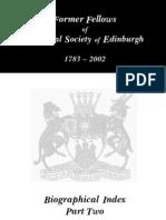RSE Fellows 1783 - 2002. L-Z