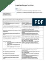 Checklist Evaluating Franchise Franchisor