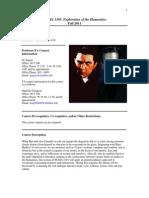 UT Dallas Syllabus for huma1301.001.11f taught by Peter Ingrao (jingrao)
