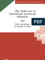 International Commercial Arbitration Law