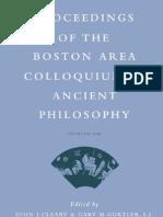 - Proceedings of the Boston Area Colloquium in Ancient Philosophy, Vol. XXI