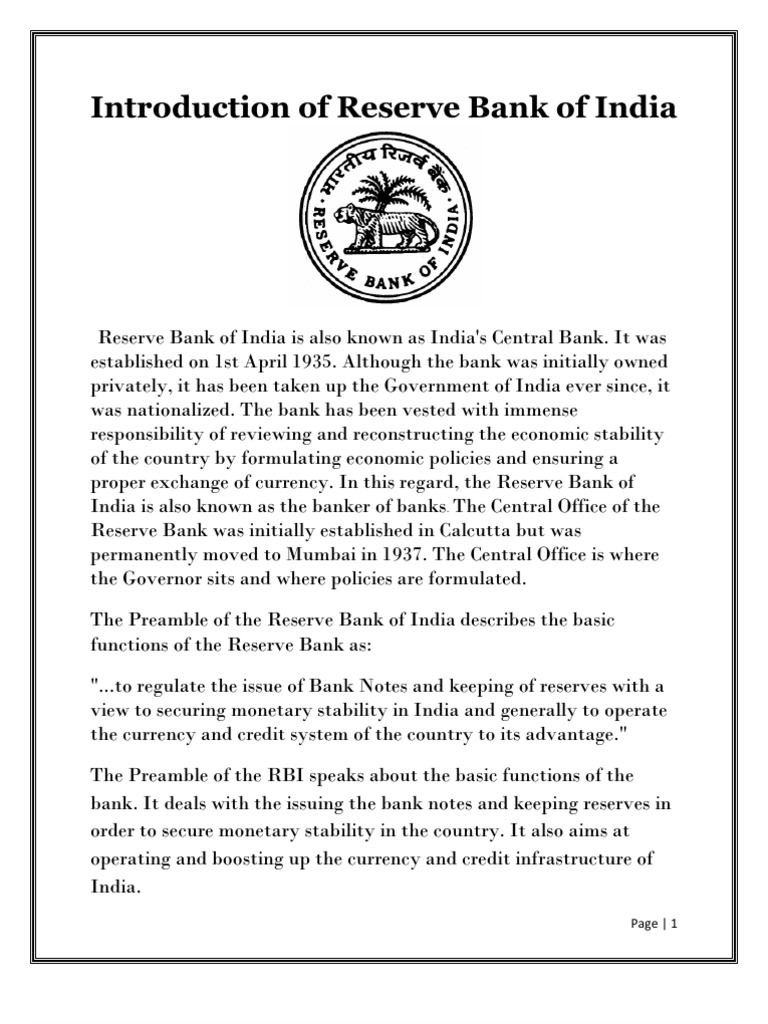 Reserves of banks: definition, features and formation 33