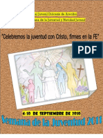 Folleto Semana de la Juventud 2011