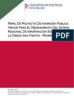 Pip Mejoramiento Del SI San Martin