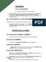 Programa Fiestas 2011