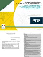 circulaire interministérielle n°DGUHC 2007-53 du 30 novembre 2007