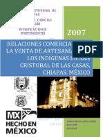 Relaciones Comer CIA Les Venta Artesanias Indigenas