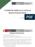 La Defensa Publica y Su Rol en El