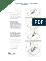 Instrucciones Para El Uso de La Zunchadora y Grapadora
