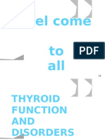 Thyroid Function and Disorders