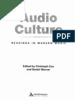 Cox Warner Audio Culture