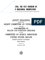 Project MK Ultra Government Hearing 1977 172pgs GOV PSY