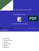 Desarrollo de aplicaciones Python-GTK