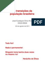 As transições da população brasileira