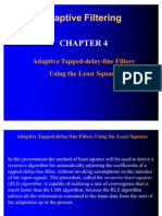 Adaptive Filtering Chapter4