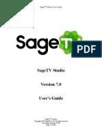 SageTVStudio UserGuide