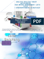 Analisis Kualitas Tablet Anti Diabetes dengan Kromatografi Kertas dan Spektrofotometri Ultraviolet