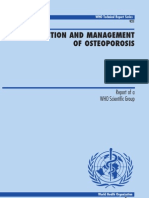 WHO Guidelines for Osteoporosis